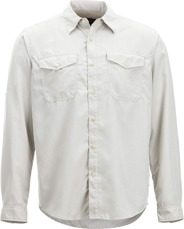 ExOfficio Men's BugsAway Briso Lightweight LongSleeve Shirt, Bone, Large