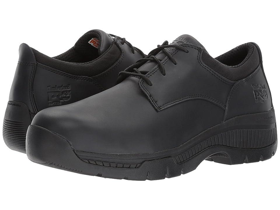 Timberland PRO Valor Duty Oxford Soft Toe (Black Smooth Leather) Men