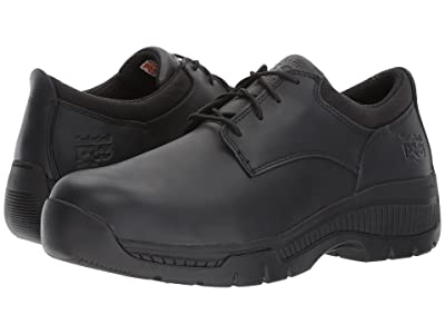 Timberland PRO Valor Duty Oxford Soft Toe (Black Smooth Leather) Men