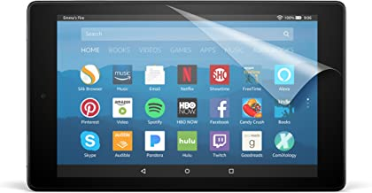 NuPro Clear Screen Protector for Amazon Fire HD 8 Tablet (7th and 8th Generation  - 2017 and 2018 releases) (2-Pack)