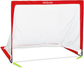 GoSports Premier Portable Pop Up Soccer Goals - Kids & Adults - Available in 4' and 6' Backyard Sizes