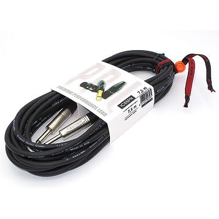 X-LEAD IC55PN075BK Serie PLATINUM, cable de instrumentos profesional de alta cal. para guitarra/bajo/teclados - conectores NEUTRIK originales - (7,5 ...
