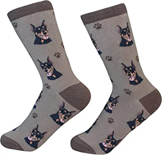 Doberman Dog Breed Socks Unisex Sock Daddy by E&S Pets