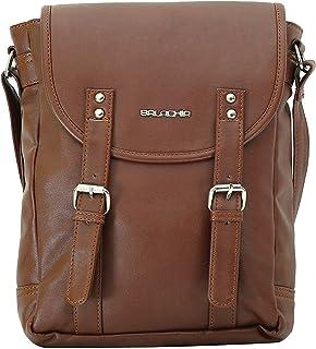Balachia Premium Canvas & Leather Unisex Sling Travel Messenger Bag With Multiple Pockets