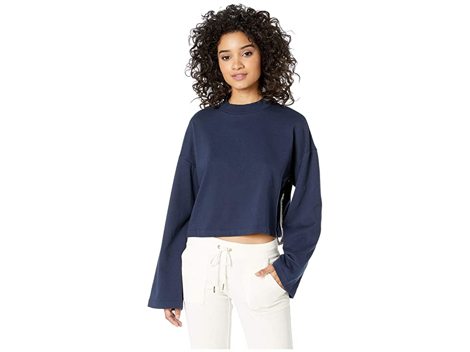 Juicy Couture Solid Logo Tape Track Pullover (Regal) Women