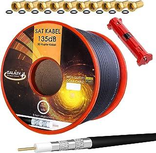HB-DIGITAL Cable de antena coaxial satelital de cobre puro ...