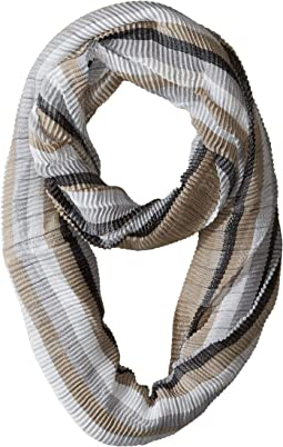 Pleated Stripe Infinity Day Wrap