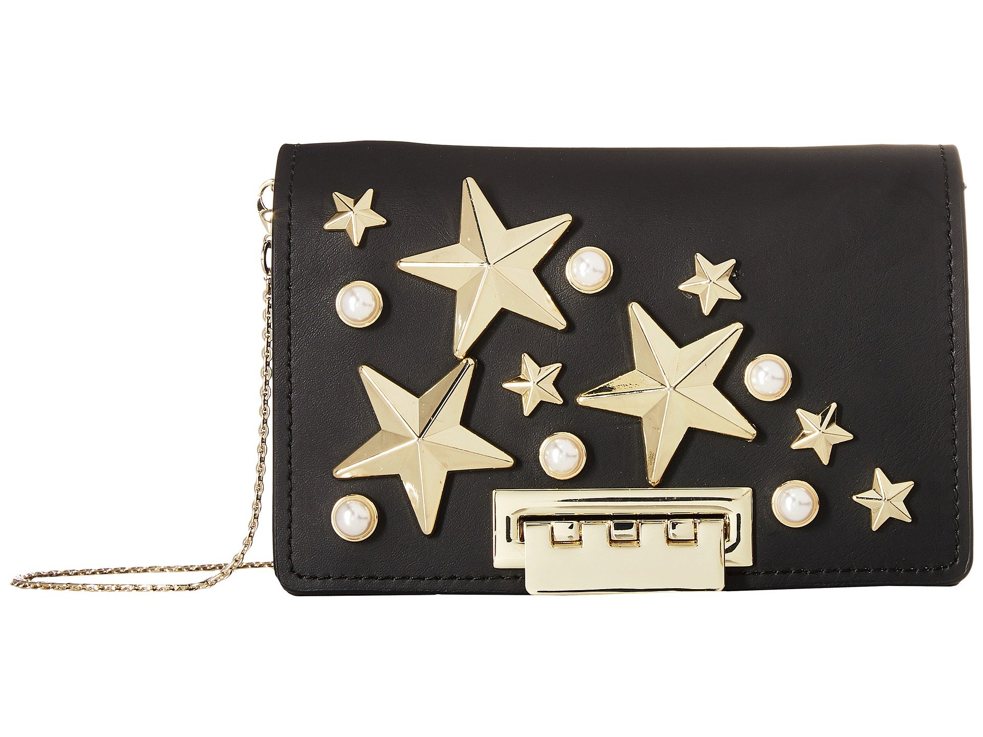 Earthette Accordion Crossbody - Star Stud, Black