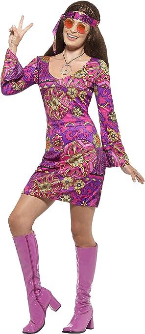 60s Costumes: Hippie, Go Go Dancer, Flower Child, Mod Style Hippie Chick Adult Costume Purple  AT vintagedancer.com