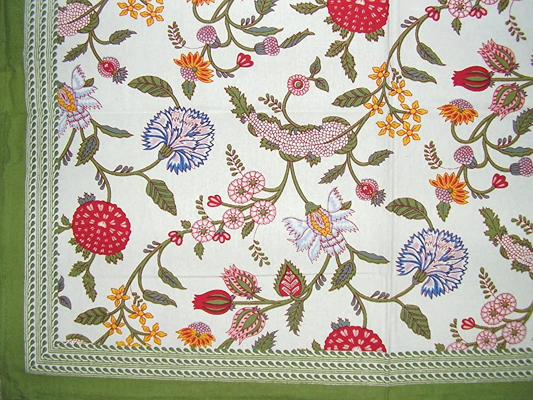 Homestead Floral Berry Square Cotton Tablecloth 60 X 60 Multi Color