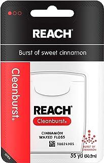 دسترسی به نخ دندان پاک شده تمیز ، مراقبت از دهان و دندان ، طعم دارچین ، 55 یارد (بسته 6)