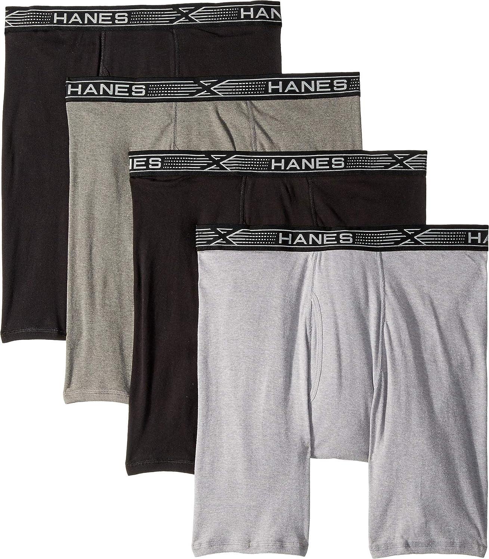 Hanes 4-Pack Platinum X-Temp Combed Cotton Long Leg Boxer Briefs