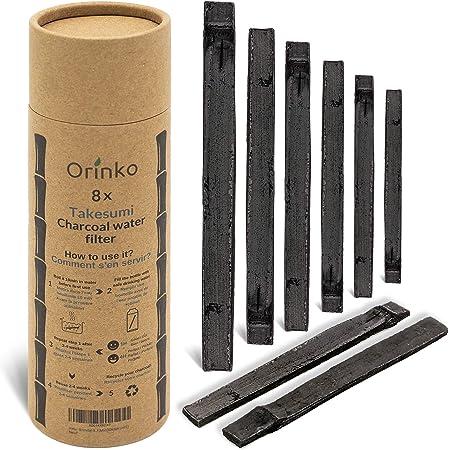 orinko Binchotan Bio 8X   Charbon Actif Takesumi de Bambou pour Purification d'eau + E-Book   Passez-Vous des Eaux en Bouteille avec Notre Charbon Actif [𝗦𝗮𝘁𝗶𝘀𝗳𝗮𝗶𝘁 𝗼𝘂 𝗥𝗲𝗺𝗯𝗼𝘂𝗿𝘀𝗲]