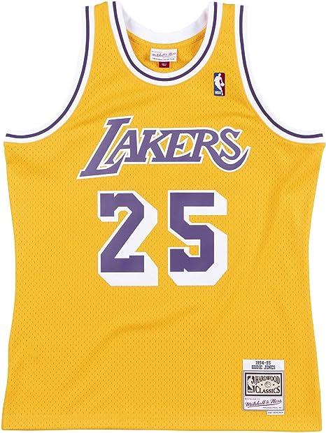 Mitchell & Ness Eddie Jones 25 Lakers 94-95 - Amarillo, Large ...