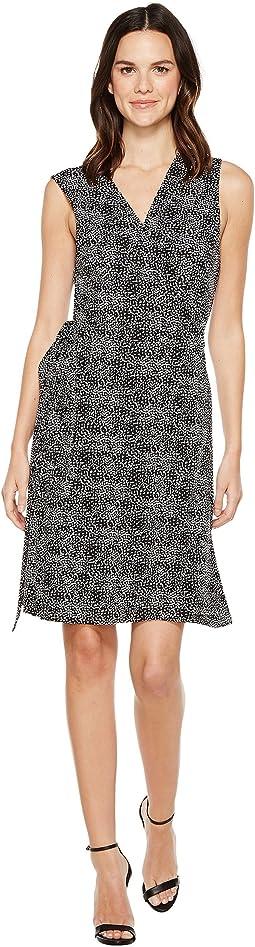 Sleeveless Delicate Pebbles Wrap Dress