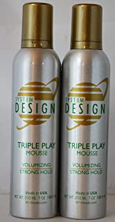 Hayashi System Design Triple Play Volumizing Mousse 7oz (2 Pack) Strong Hold - Made in the USA