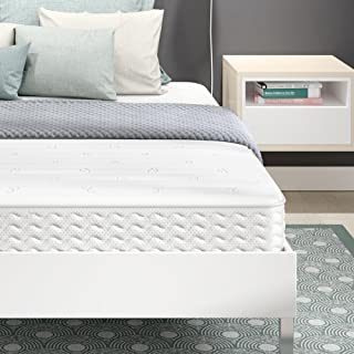 Signature Sleep 5160096 Contour Encased Mattress, Queen, White