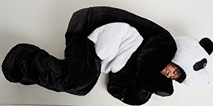 Snoozzoo Adult Panda Sleeping Bag for Person up to 75 inches Tall.