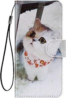 Felfy Kompatibel med Huawei P40 fodral plånbok, varg lejon katt blomma tiger mönster skyddande fodral magnet vikbart fodra...