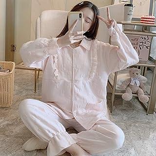 Pure Color Jacquard Warm Pajamas for Pregnant Women High Quality (Color : Rabbit Shrimp Color)