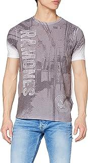 Rockoff Trade Ramones Subway Sublimation Camiseta para Hombre
