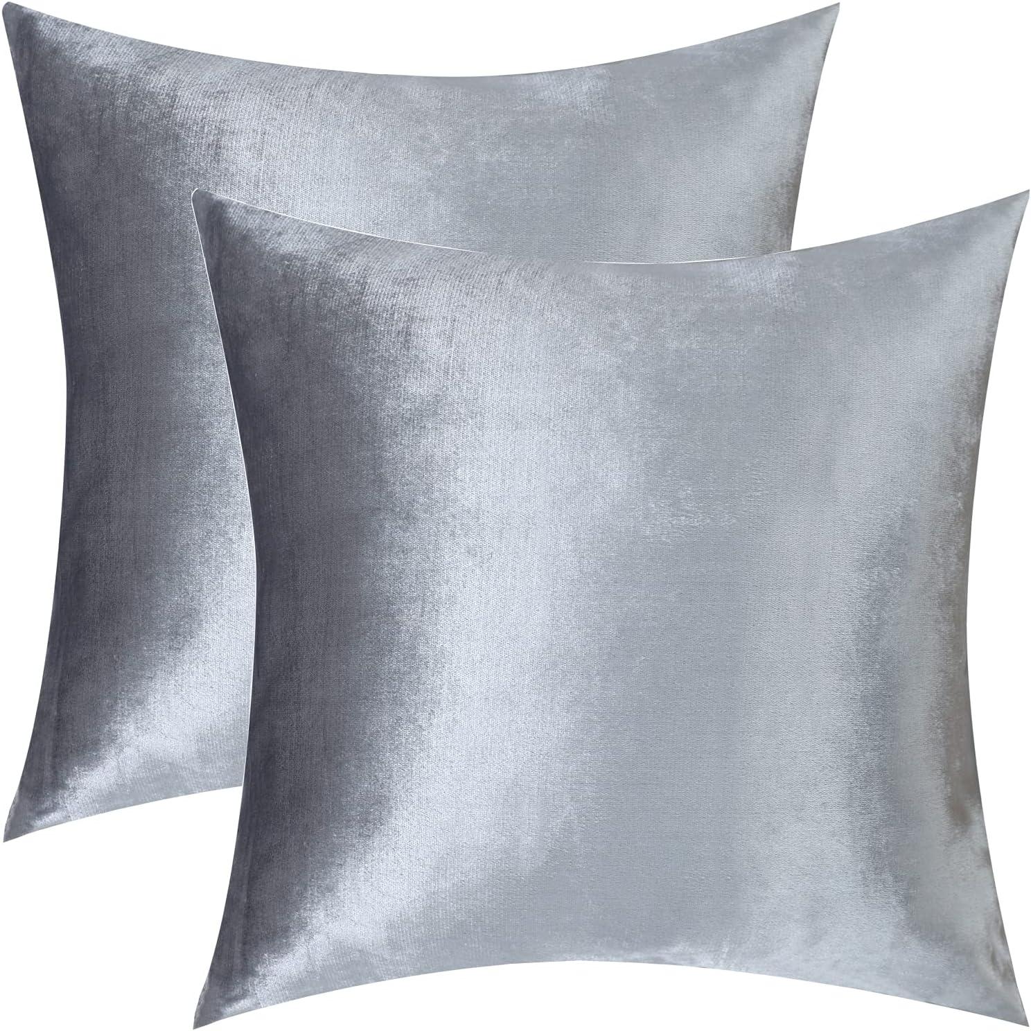 Set of Superlatite 2 Velvet Throw Pillow Square Latest item x Inch Decorat 20 Covers