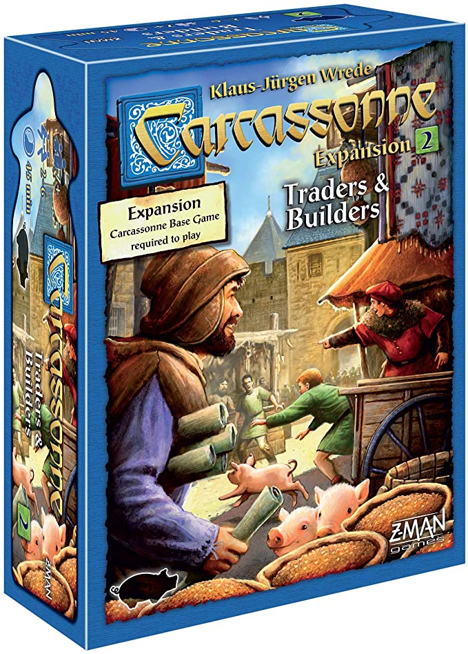 Carcassonne Traders & Builders Board Game EXPANSION 2   Family Board Game   Board Game for Adults and Family   Strategy Board Game   Medieval Adventure Board Game   2-6 Players   Made by Z-Man Games