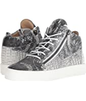 Giuseppe Zanotti - May London Croc Print Mid Top Sneaker