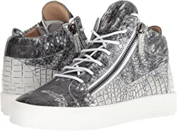 May London Croc Print Mid Top Sneaker