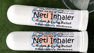 Urban ReLeaf NETI Salt Air Relief INHALERS! Set of Two (2) Sinus & Lung, Himalayan & Botanicals! Respiratory Wellness. Healing Aromatherapy. Energizing! Colds, Asthma, Cough, Bronchitis 100% Natural