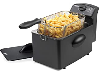 Friteuse Princess Black Steel noire - 4 L - 6 portions - 2 000 W 01.182729.01.001