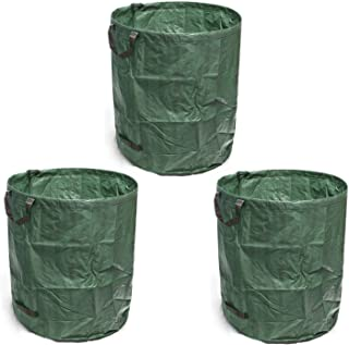 GearTaker Bulk Bags Garden Waste Bags Reusable and Collapsible Lawn Leaf Container 72 Gallons Super Sack -3packs