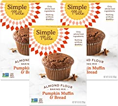 Simple Mills Almond Flour Baking Mix, Gluten Free Pumpkin Bread Mix, Muffin pan ready, Made with whole foods, 3 Count (Pac...
