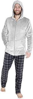 CityComfort Mens Pyjamas Set Slim Fit, Fleece Pyjama for Men, Winter Lounge Wear with Warm Hoodie and Soft PJ Bottoms, Cos...