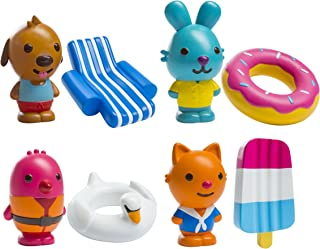Sago Mini - BPA and Mold Free  ,   Easy Clean Bath Squirters and Floaties - Gift Pack