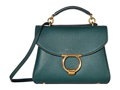 Salvatore Ferragamo Margot Shoulder Bag (Pine) Handbags