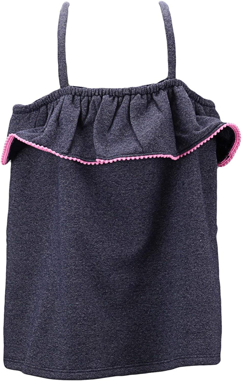 Janie and Jack Girl's Blue Ruffle Pom-Pom Max 58% OFF Max 40% OFF Trim Mo 3-6 - Top Tank