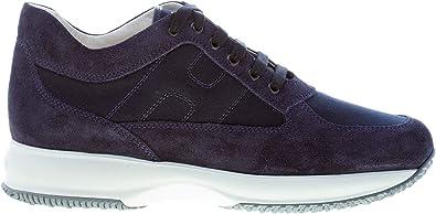 Hogan Uomo Interactive Sneaker in camoscio e Tessuto Blu Notte Color Blu Size 45 EU (UK 10.5)