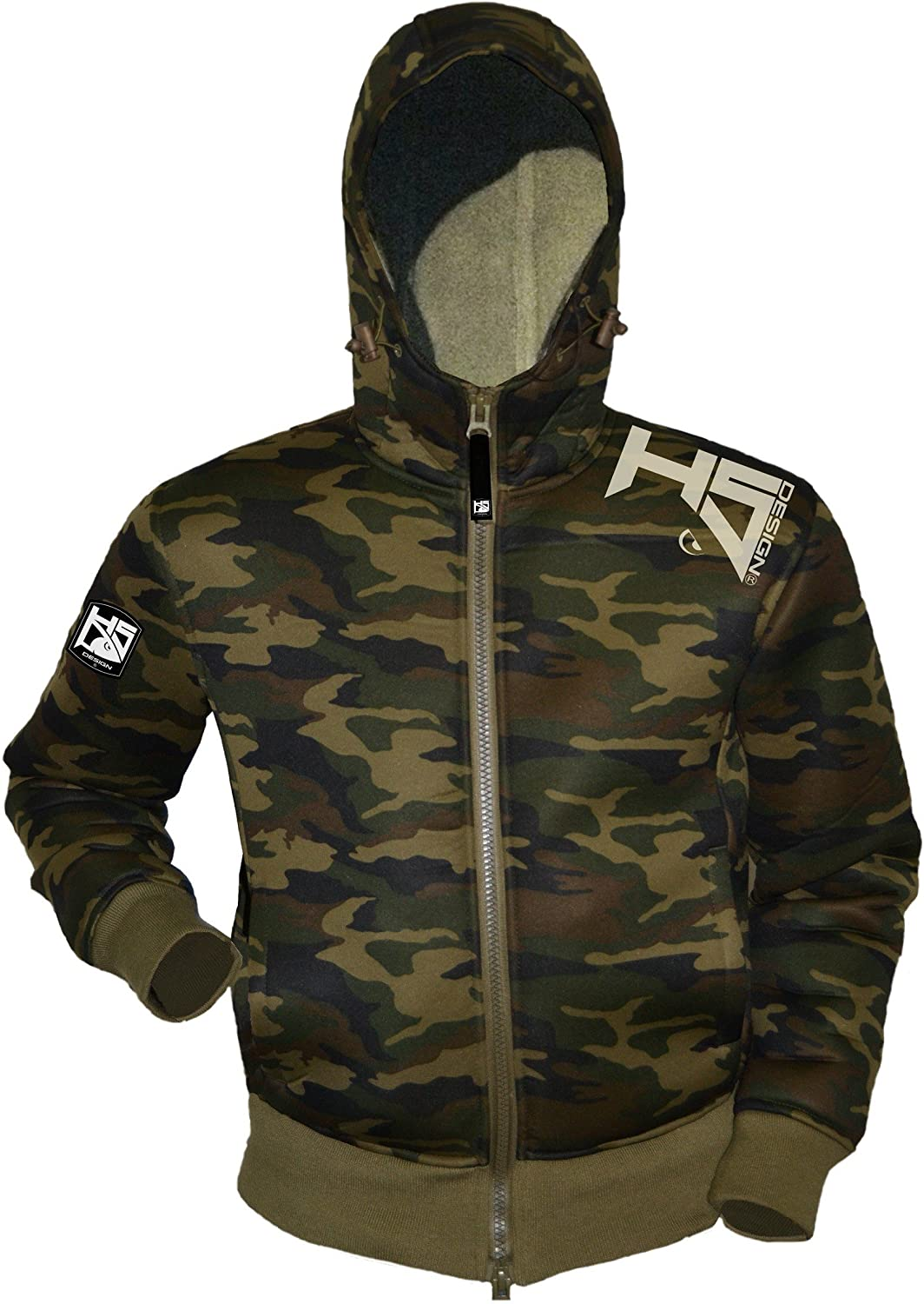 HOTSPOT DESIGN Fishing Neoprene Thermic Jacket, camouflage, reliable weather predection even in bitter cold