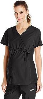 Cherokee Women's Maternity Mock Wrap Scrubs Shirt