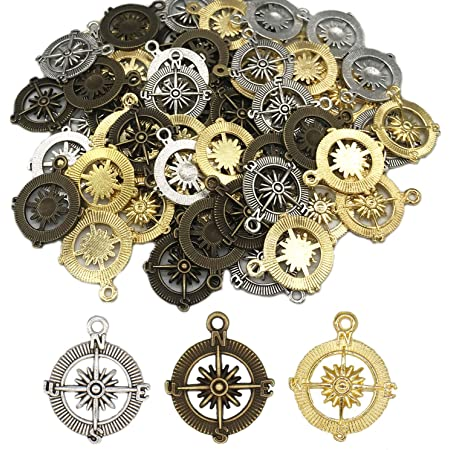 40 pieces tibet silver compass charms 30x25mm #4645 free ship