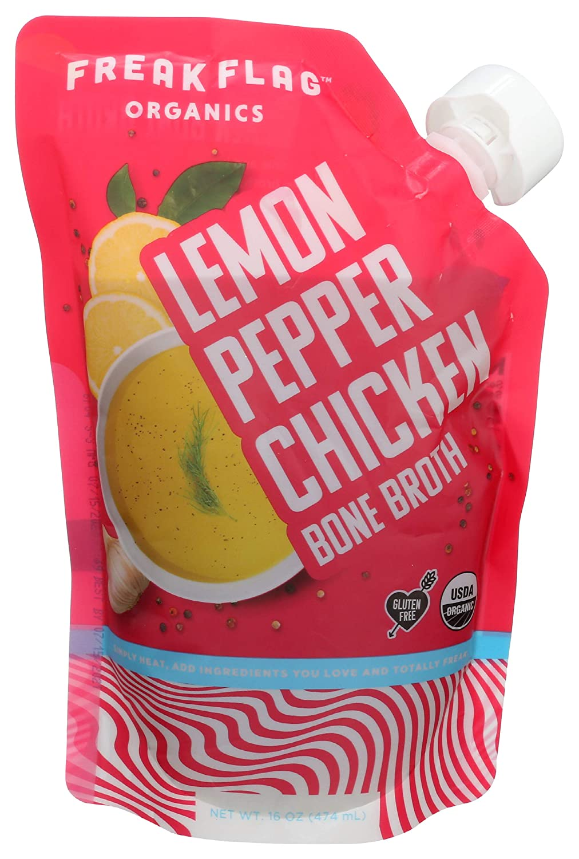 Freak Flag Chicago Mall Organics Broth Bone 16 Chicken Lemon Online limited product Ounce