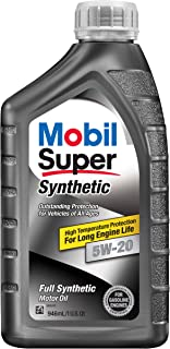 Mobil Super 112911 5W-20 Synthetic Motor Oil - 1 Quart (Pack of 6)
