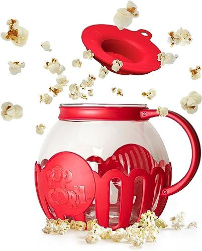 Ecolution Micro-pop micro-ondes à popcorn 3 Qt - Family Taille Rouge
