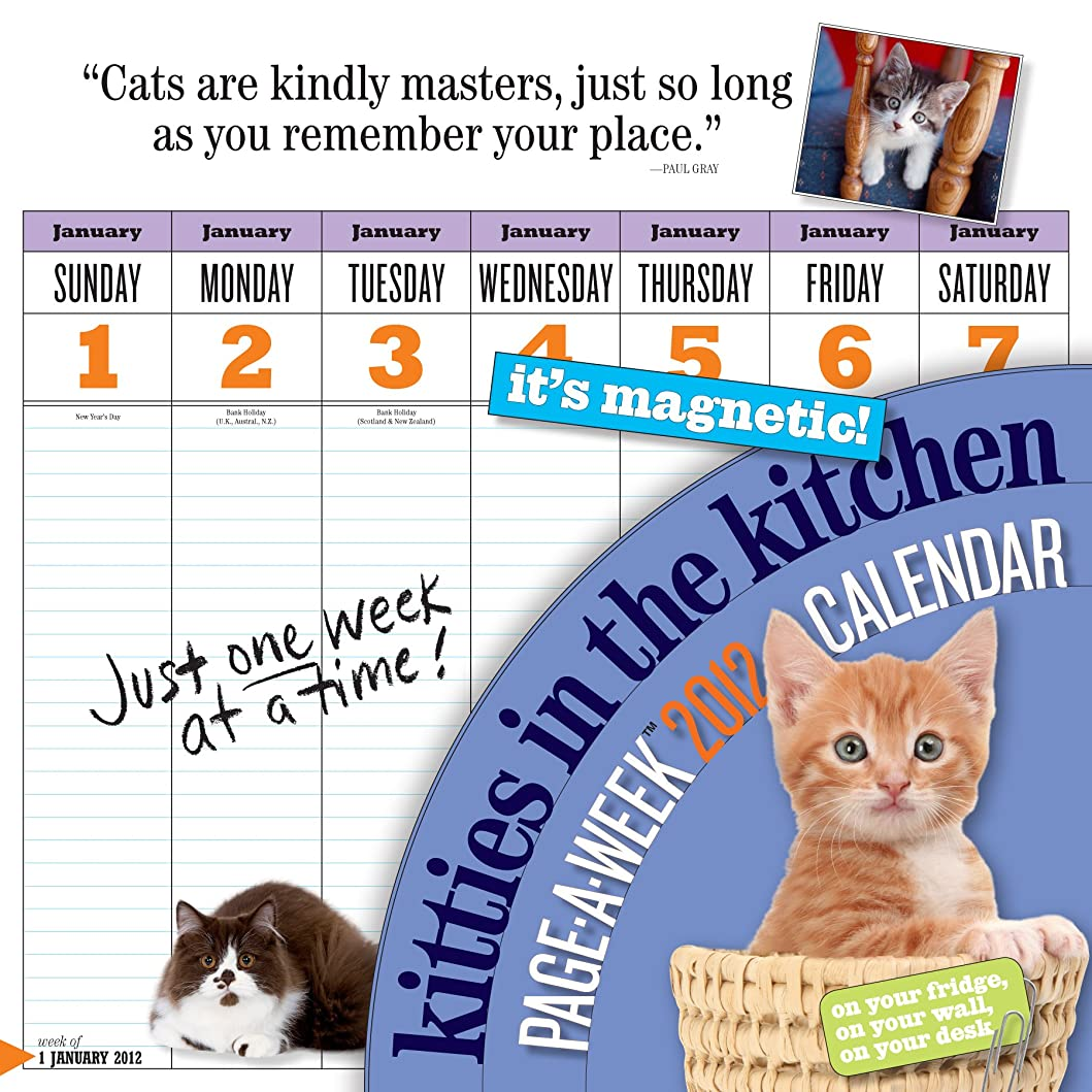 香水四面体呼吸Kitties in the Kitchen 2012 Calendar (Wall Calendar)