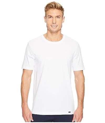 Hanro Living Short Sleeve Crew Neck Shirt (White) Men