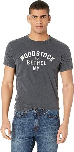 Black Label Vintage Woodstock Bethel New York Distressed Tee