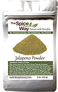 The Spice Way Jalapeno Powder - | 4 oz | hot pepper powder from pure chile dried pods