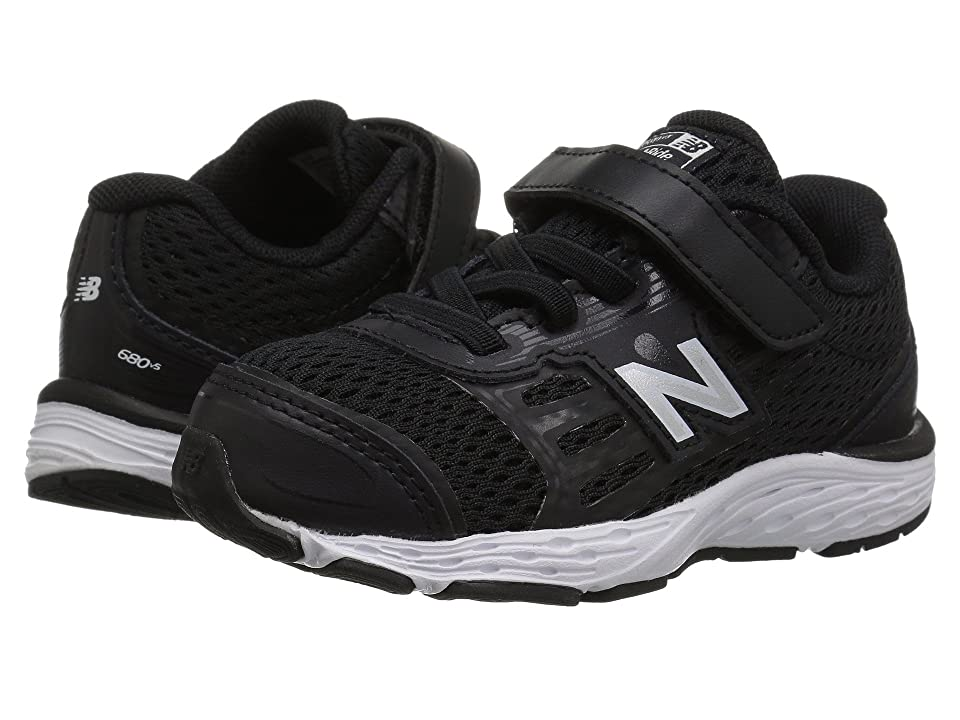 New Balance Kids KA680v5I (Infant/Toddler) (Black/White) Boys Shoes