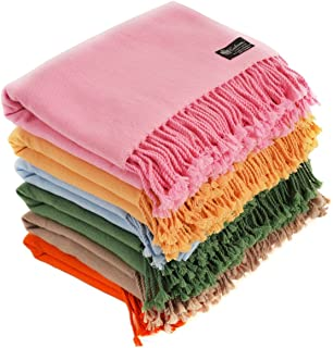 Cashmere Boutique: 100% Pure Cashmere Throw Blanket in 4 Ply (16 Colors, Size: 60